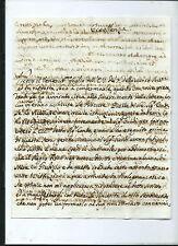 Manoscritto Sig. Napoli Timbro da Palermo a Genova al Marchese Pallavicini 1793