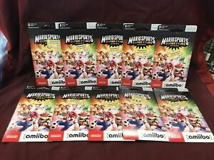 Mario Sports Superstars Amiibo Pack Of 5 Cards LOT OF 10 BRAND NEW L🔴🔴K 🔥🔥