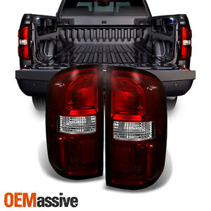 Fit 2014 - 2018 GMC Sierra 1500|2500|3500HD Dark Red Tail Lights Replacement