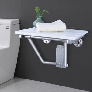 FOLDING WALL MOUNTED SHOWER SEAT WOODEN CHAIR FOLDAWAY DISABLED MOBILITY LUXURY