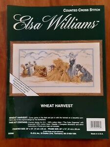 COUNTED CROSS STITCH KIT - WHEAT HARVEST by ELSA WILLIAMS 51 x 25cm