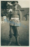 WW1 Soldier Possibly 17th Lancers White belt Gloves unposted