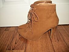 LADIES BROWN SUEDE ANKLE BOOTS,  SIZE UK 7  VGC