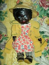 Extremely rare, large Black leather, antique toddler doll, wonderful features