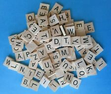 100 Pcs WOOD SCRABBLE TILES Original From Game - Crafts Wood Alphabet Spelling