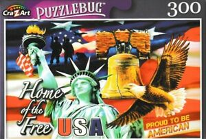 """USA Patriotic Liberty Bell Statue of Jigsaw Puzzle 300 Pieces 11""""X18.25"""" Piece"""