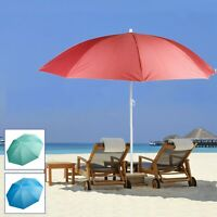 1.9m Large Sun Shade Parasol Umbrella Garden Beach Deck Chair Patio Protection