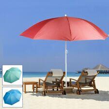1.9m Large Sun Shade Parasol Umbrella Garden Beach Deck Chair Patio Protection