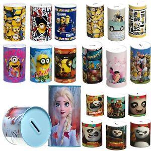 Kids Money Box Boys Girls PawPatrol,Avenger,Disney Princes Money Tin Xmas Gift