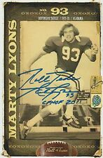 Marty Lyons 2011 AUTOGRAPH COLLEGE FOOTBALL HOF PHOTO SIGNED