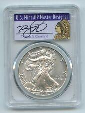 2011 W $1 Unc Burnished Silver Eagle 1oz PCGS SP69 Thomas Cleveland Native