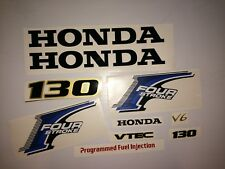Honda 130 hp Decal 4-Stroke Outboard  Kit Fourstroke Reproduction Decals USA