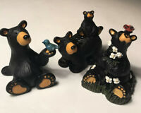 Bear Foots Jeff Fleming Big Sky Carvers Qty3 Figurine Collectible 2.75 High
