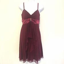 Venus Womens Dress sz 4 Cranberry Maroon Semi Formal Chiffon Occasion Empire TT1