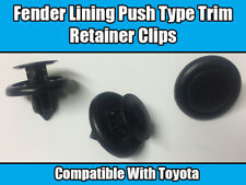 10x CLIPS For TOYOTA COROLLA MR2 FENDER LINING PUSH TYPE RETAINER PLASTIC