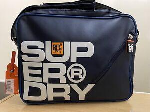Superdry Dry Zip Messenger Bag - Lauren Navy BNWT - A0123
