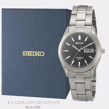 Authentic Seiko Men's Titanium Quartz Watch SGG709