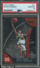 2007-08 Topps Finest Kevin Durant Seattle Supersonics RC Rookie PSA 10
