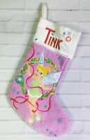 Disney Fairies Tinker Bell Tink Musical Christmas Holiday Stocking Pink White