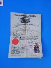 -RARE- 1922 U.S.A. Passport of Lillian S. Clift signed by CHARLES EVANS HUGHES