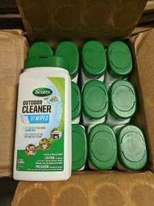 Case of 12 SCOTTS Outdoor Cleaning Wipes Oxiclean Oxi-Clean Heavy Duty 300 Wipes