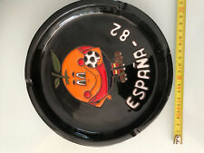 cendrier vintage coupe du monde espagne 1982 diametre 21cm