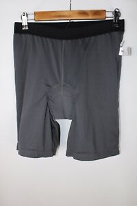 Zoic Men's Medium Size Dark Gray Thin Mesh Padded Cycling Shorts Tights