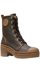 Michael Kors Corey Print Combat Boots New Womens Size 9 ❤️❤️❤️❤️