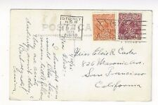1935 Sydney NSW, PPC to San Francisco CA, Posted Overseas Box Machine Cancel KGV