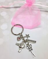 Keyring Hairdresser Stylist Thank You Gift Charm Heart Handmade Keepsake Barber