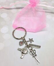Keyring Hairdresser stylist thank you gift charm heart handmade keepsake