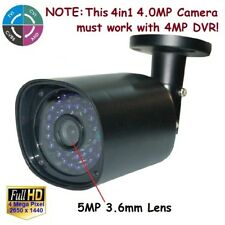Sunvision HD 4MP 4-in-1 Effio-E In/outdoors 36 IR 5MP Lens CCTV Camera w/ OSD