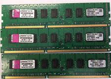 6GB Lot of 3 2GB PC3-10600E 2Rx8 DDR3 1333 Server ECC Unbuffered DIMM Memory RAM