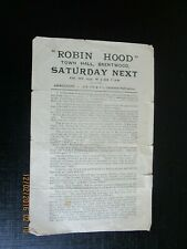 1935 BRENTWOOD ESSEX TOWN HALL ROBIN HOOD HERMIONE MOSS FLYER THEATRE