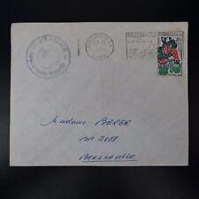 CONGO LETTERA COVER BRAZZAVILLE CAD 1962 TIMBRO AGENZIA DOGANALE