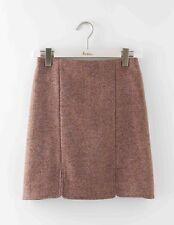 BODEN BNIB British Tweed Mini Skirt - Pink/Brown Herringbone - UK 14 Petite
