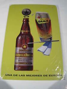 REF 331 Cartel Placa Metal 20X30CM 150gr - Cerveza Beer Estrella Damm