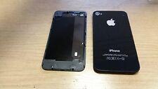 4 X Genuina Original Apple Iphone 4 Negro Trasera Batería Tapa Faja Grado A