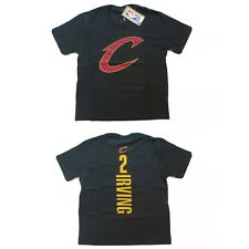 New Fanatics Kyrie Irving Cleveland Cavaliers T Shirt sz YOUTH S SMALL Black NBA