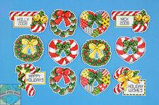 Cross Stitch Kit ~ Design Works 12 Candy Cane & Wreaths Ornaments PC #DW1659