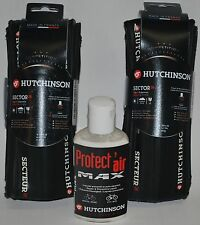 Hutchinson Sector tubeless clincher all black 700 X 28 2 tires + protect air MAX