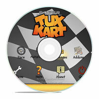 PC SUPER TUX CART RACING GAME, JUMP AND DO TRICKS, FUNNY CHARACTERS, AND MORE