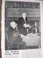 Photo article UK Foreign Minister Sir John Simon 1935