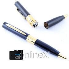 Bolígrafo Espía Cámara Oculta Full HD 1286x960 4GB Color Negro Dorado a1048