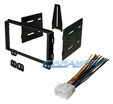 CAR STEREO RADIO DOUBLE DIN DASH KIT INSTALLATION MOUNTING W/ WIRE HARNESS PLUG
