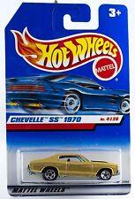 Hot Wheels 1970 Chevelle SS Gold w/5SP's International Blue Card 1999