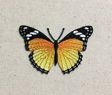 Monarch Butterfly - Black/Orange/Yellow - Iron on Applique/Embroidered Patch