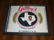 Gilley'S Premium Texas Beer Framed Color Ad Print - Spoetzl Brewery