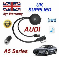 For AUDI A5 Bluetooth & USB Cable With Aux USB Power adapter charging gen 3 & 3+