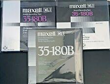 "3 lot tapes MAXELL UD XL1 35-180B1/4"" Tape – 3600' - 10.5 NAB reel to reel tape"